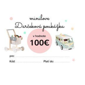 Darčeková poukážka Minilove 100 EUR