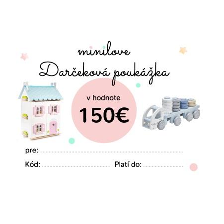 Darčeková poukážka Minilove 150 EUR