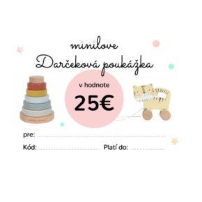 Darčeková poukážka Minilove 25 EUR