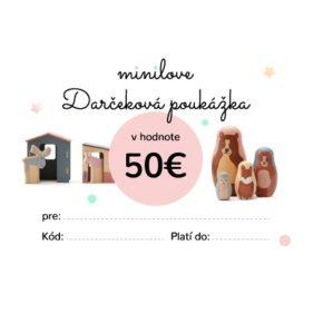 Darčeková poukážka Minilove 50 EUR