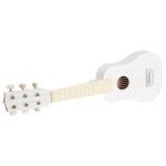 Drevená gitara biela