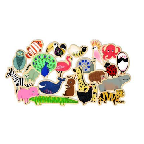 Drevené magnetky Zvieratká