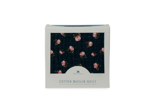 Mušelinová deka Midnight rose