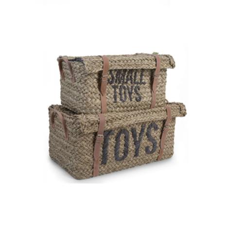 Slamené koše na hračky