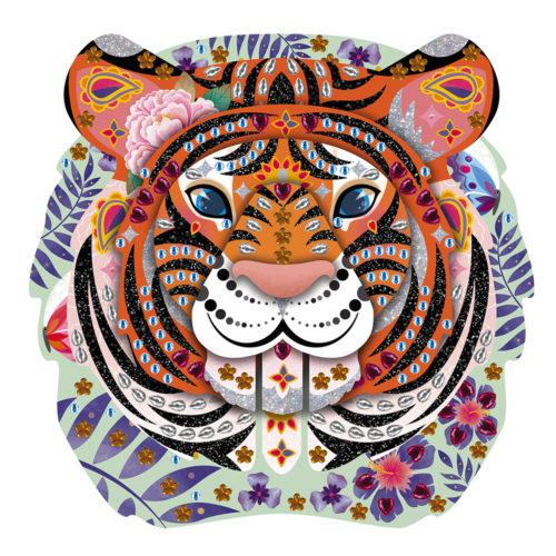 Trblietky a flitre Hlava tigra