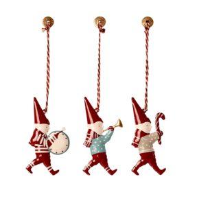 Vianočné ozdoby v boxe Škriatkovia