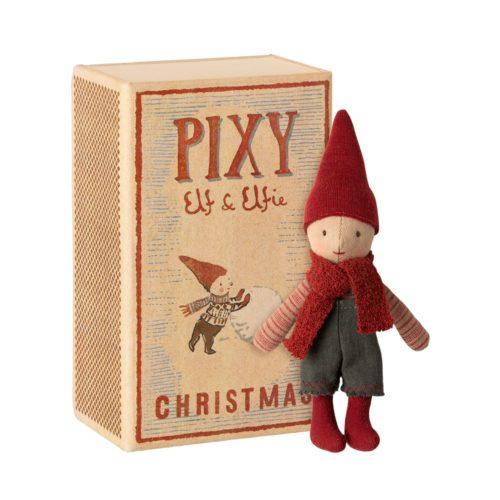 Vianočný škriatok Pixy elf v krabičke