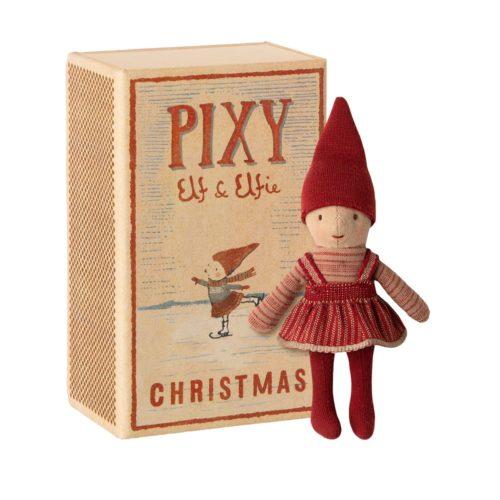 Vianočný škriatok Pixy elfie v krabičke