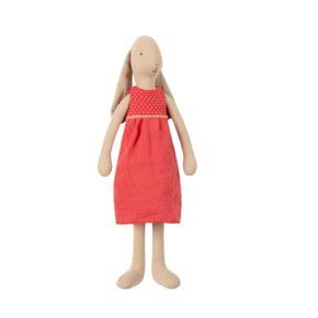 Zajačica v červených šatách veľkosť 3
