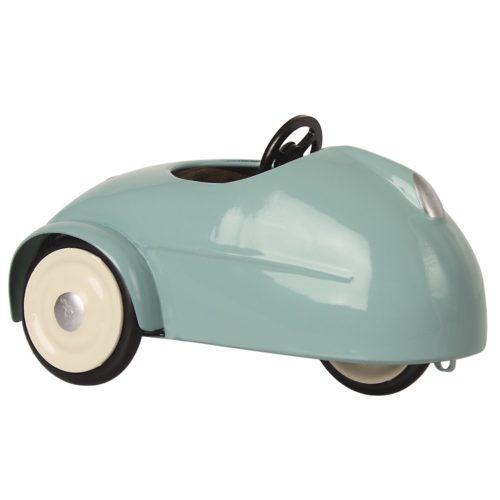 Myška s autom a garážou, modrá