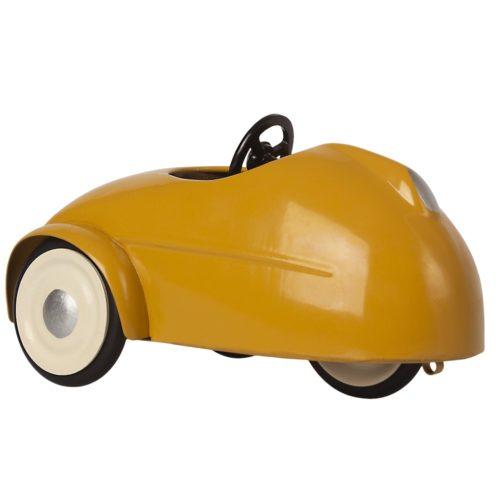 Myška s autom a garážou, žltá