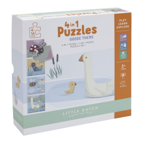 Puzzle Húsky 4v1