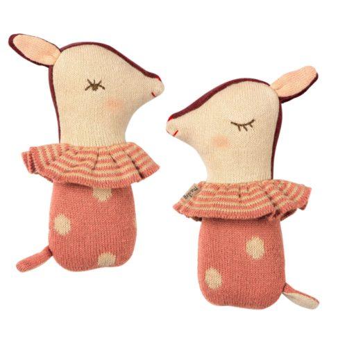 Hrkálka Bambi Maileg Ružová