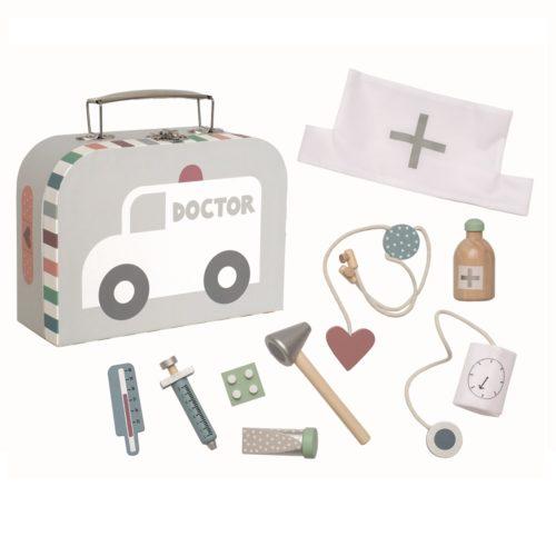 Lekársky kufrík šedá