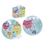 Obojstranné kruhové puzzle Svet