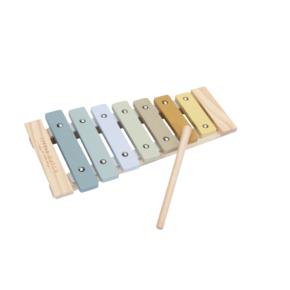 Drevený xylofón modrá