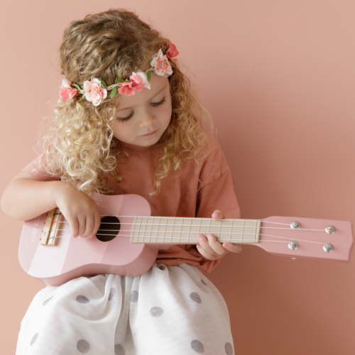 Gitara Little Dutch ružová