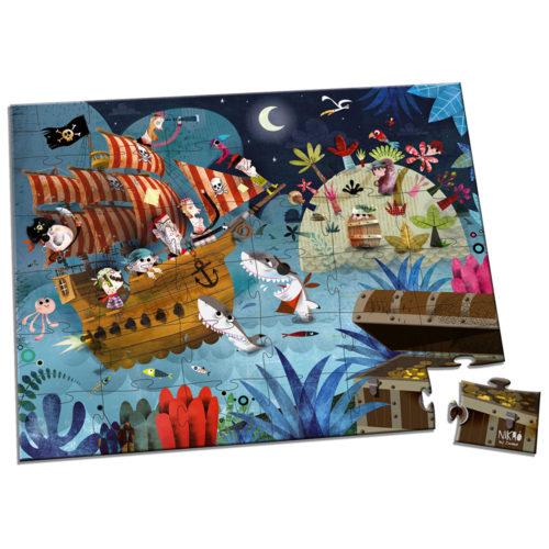 Puzzle Lovci pokladov 36 ks