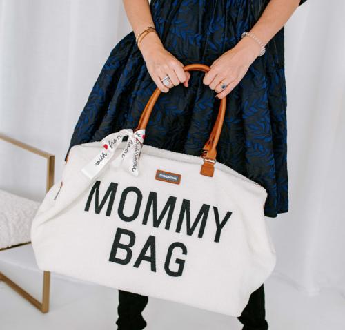 Taška Mommy bag Teddy biela