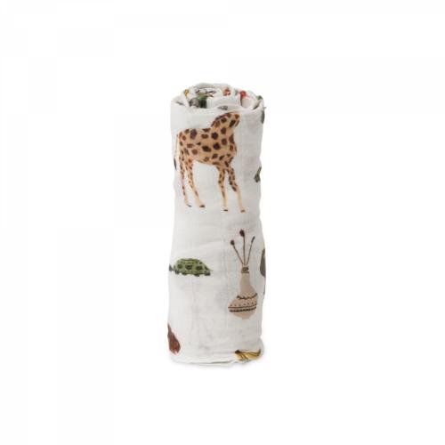 Mušelinová zavinovacia plienka deluxe Safari