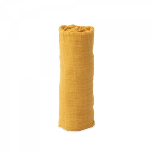 Mušelinová zavinovacia plienka Mustard