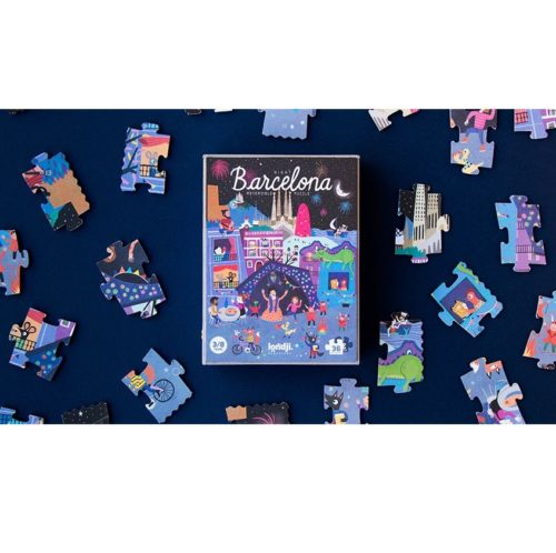 Obojstranné puzzle Deň a noc v Barcelone