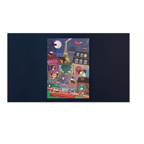 Obojstranné puzzle Deň a noc v Paríži