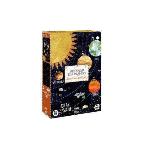 Svietiace puzzle Planéty 200 ks