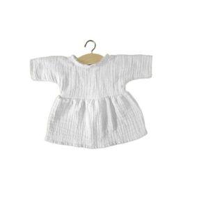 Bavlnené šaty Minikane biela