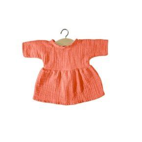 Bavlnené šaty Minikane papája