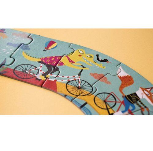 Dlhé puzzle Na bicykli