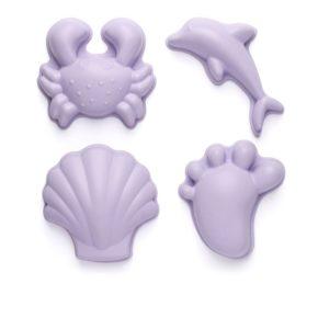 Silikónové formičky na piesok fialová