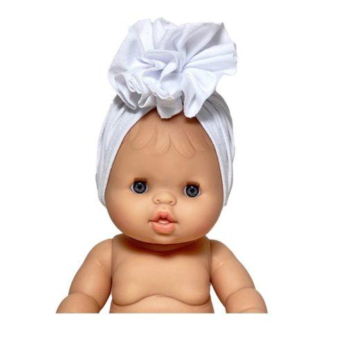 Turban pre bábiku Minikane biela