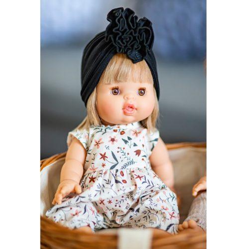 Turban pre bábiku Minikane čierna
