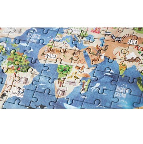 Vreckové puzzle Okolo sveta