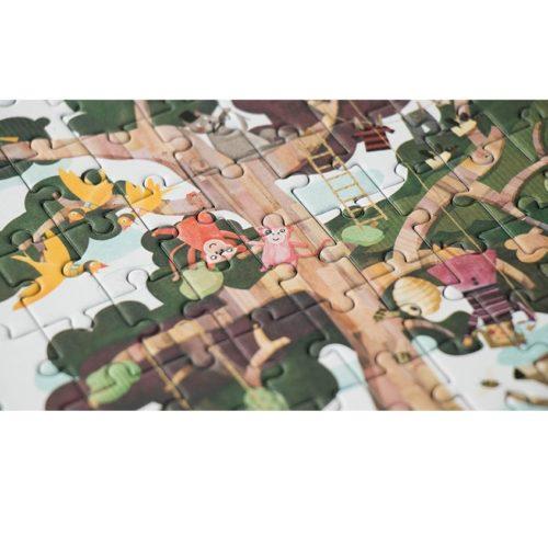 Vreckové obojstranné puzzle Strom