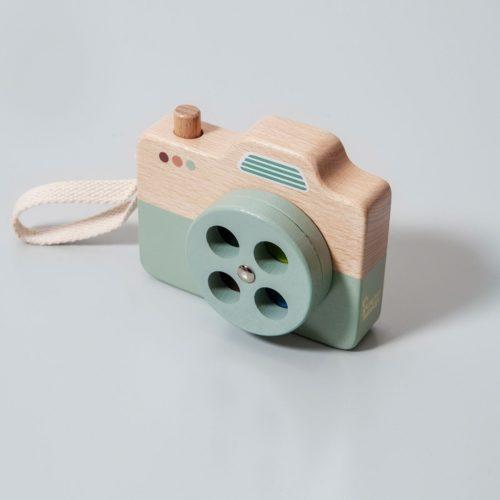 Drevený fotoaparát modrá