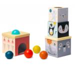 Kartónové kocky s loptičkami
