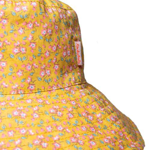 Látkový klobúk Kvietky