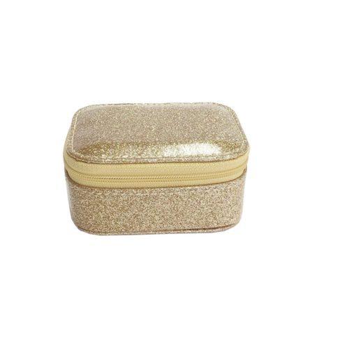 Mini cestovná šperkovnica zlatá
