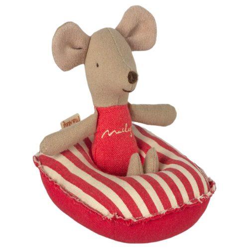 Nafukovací čln pre malé myšky červená