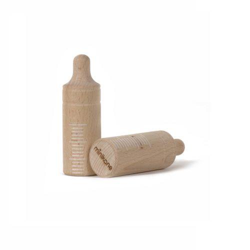 Drevená fľaša pre bábiku