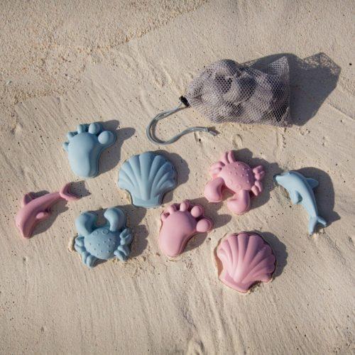 Silikónové formičky na piesok ružová