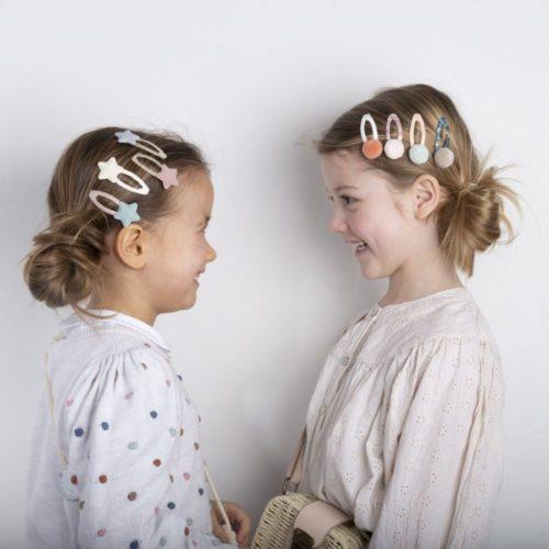 Sponky do vlasov Pastelové hviezdičky