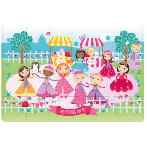 Puzzle v kovovom boxe Princezné na ľade APLI