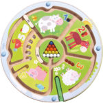 Haba Magnetický labyrint s perom Farma a čísla