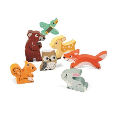 Janod drevené puzzle pre najmenších Lesné zvieratká