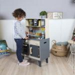 Drevená kuchynka Mozaic s LED Janod 2