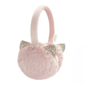 Klapky na uši Cica mica ružová