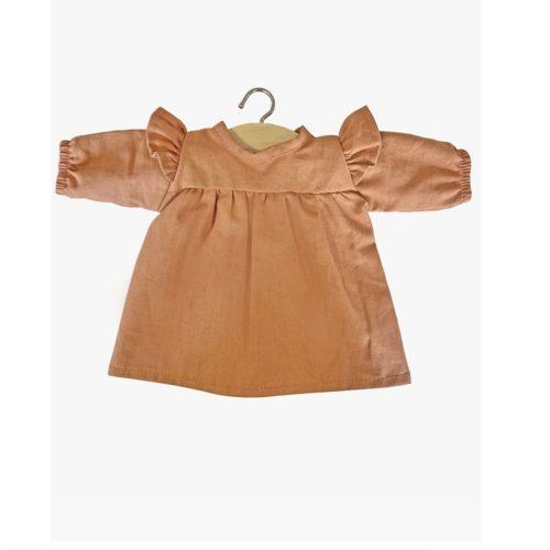Minikane šaty s dlhým rukávom Cassonade hnedá